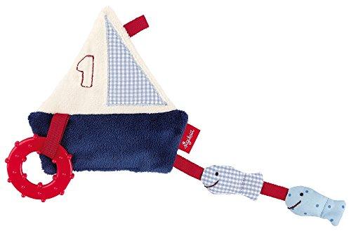 sigikid-40978-fille-et-garcon-doudou-deveil-bateau-bleu-rouge-toy-ahoi