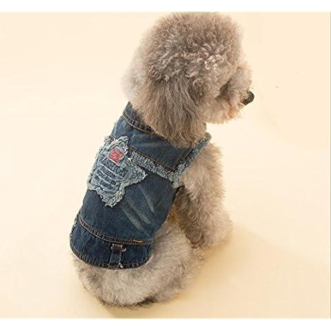 Cowboy pet Pet Abbigliamento Gilet orsacchiotti piccole e medie dimensioni cane di cucciolo cane vestiti due piedi abbigliamento autunnale e l'invernale forniture , s