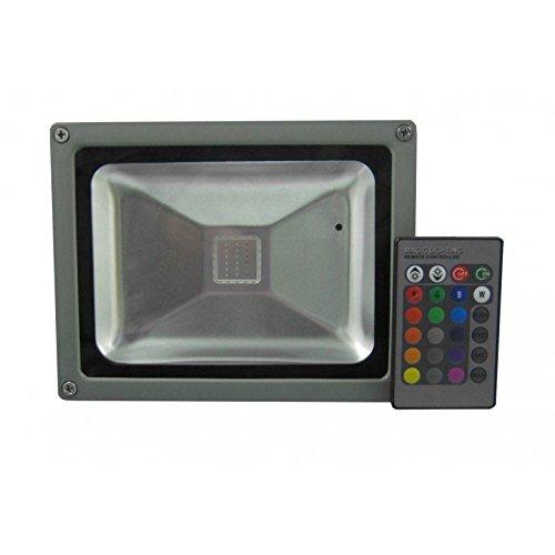 Foco proyector led RGB multicolor de 20W y 50Wpara exterior IP65 a...