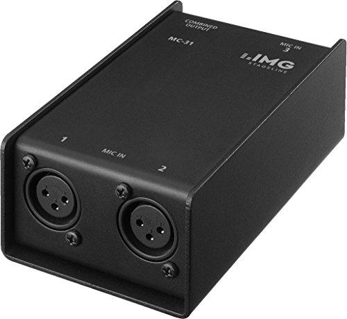 31 Audio (IMG Stageline MC-31, 3-fach-Mikrofon-Combiner zum Anschluss von 3 Mikrofone an z.B. ein Mischpult)