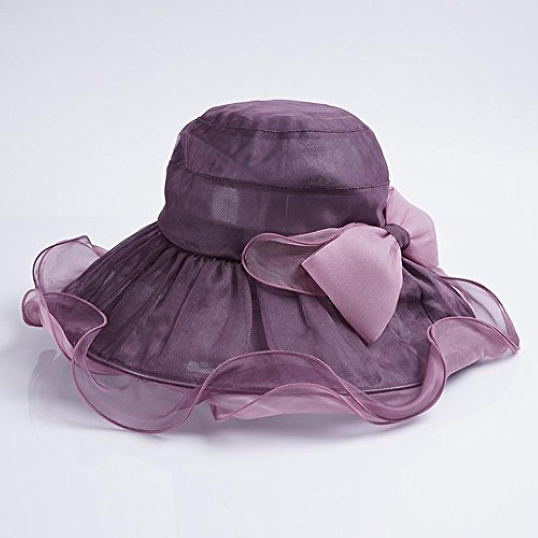 H.ZHOU H.ZHOU H.ZHOU Cappelli da Sole Cappello in Seta da Spiaggia ... 2bd79aab3e9e