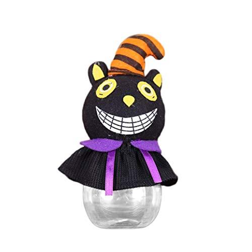 quisiten Happy Halloween Party Kreative Transparente Flasche Candy Jar (B) ()