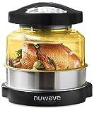 NuWave 20606 | | Four à convection par chaleur tournante et à infrarouge ; Friture à air chaud, gâteaux, grillades, barbecue, gril, cuisson vapeur, rôtis et déshydratation, Noir