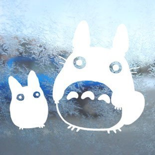 Aufkleber Totoro White Decal Studio Ghibli Car Window Laptop White Sticker