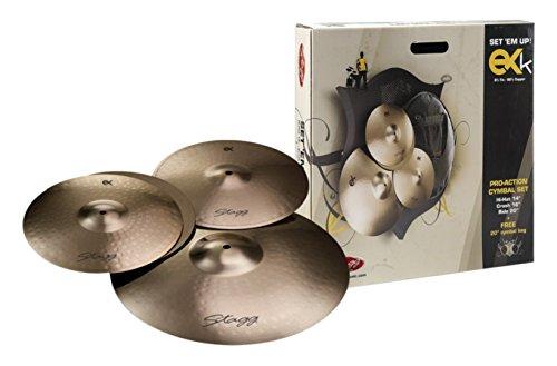 Stagg EXK Set B8Bronze Becken Set mit 35,6cm HiHat, 16Crash, 20Ride und Cymbal Bag