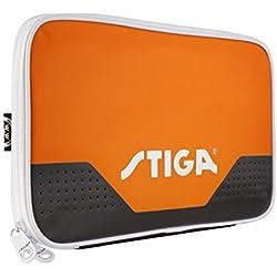 Stiga–Funda Stage naranja para raqueta de Ping Pong tenis de mesa