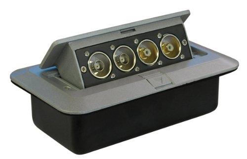 Silber Pop-Up AV Platte Mit BNC Stecker & Phono Sockets