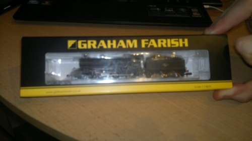 Graham farish 372-078 br b1 61321 lined black late crest weathered