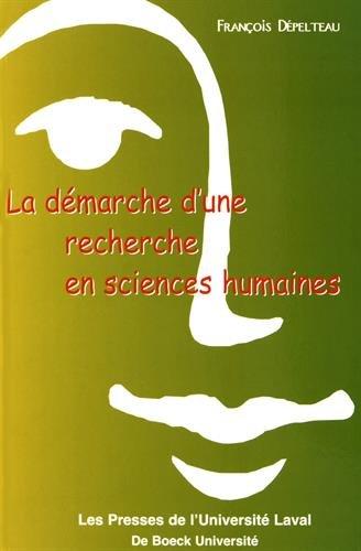 La démarche d'une recherche en sciences humaines. : De la question de départ à la communication des résultats