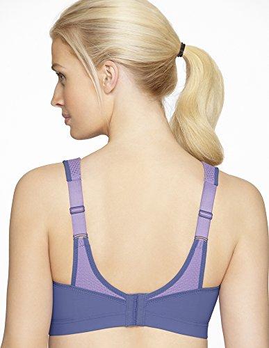 Glamorise Damen Sport-Bustier BH für Geringe Belastung Violett (Violett 501)