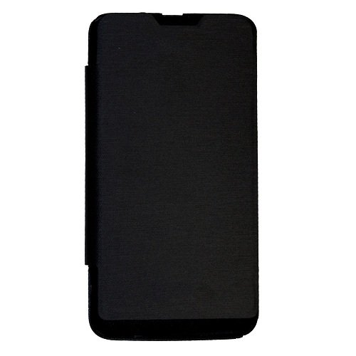 Casotec Premium Leather Flip Case Cover for Micromax Bolt A36 - Black  available at amazon for Rs.125
