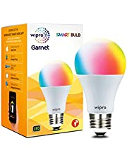 Wipro WiFi Enabled Smart LED Bulb E27 9-Watt (16 Million Colors + Shades of White) (Compatible with Amazon Alexa and Google Assistant) (Screw-Type Bulb)