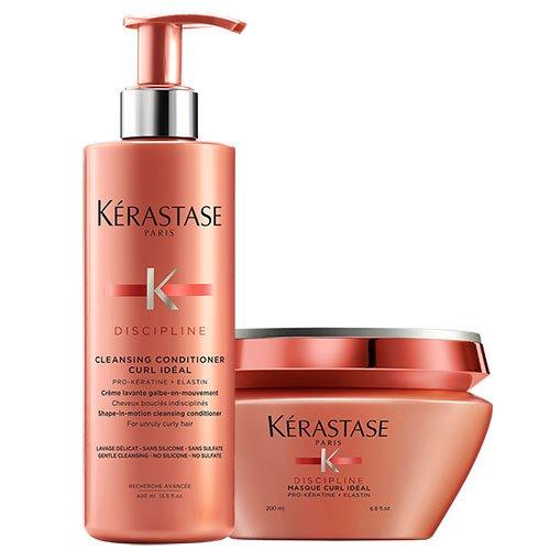 Kerastase Disziplin Curl ideal Cleansing Conditioner 400ml & Masque 200ml Duo (Curl Masque)