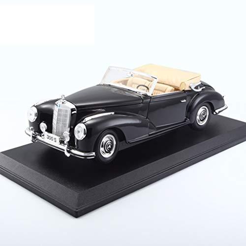 PENGJIE-Model 1:18 Mercedes Benz Modello 300S 1955 Simulazione Lega Originale Modello di Auto in Edizione Limitata (Colore : Nero)