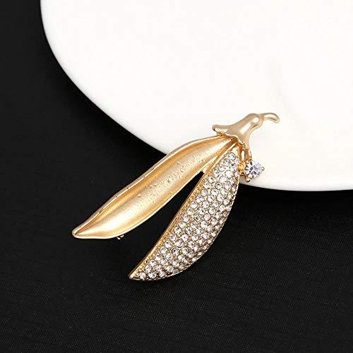 Olydmsky Einfache Art und Weise hundert-Stein Pod Brosche weibliche Brosche pin Kleidung (Pin Pod)