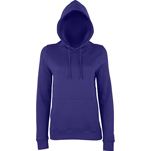 Awdis Hoods Ladies Girlie College Hoodie Turquoise purple