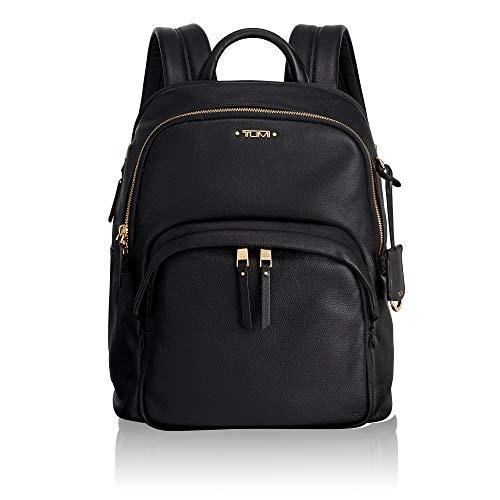 Tumi Leder Tasche (Tumi Voyageur Dori Leather Backpack Rucksack, 33 cm, Black)