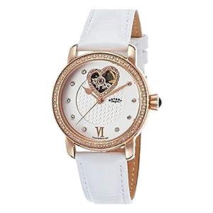 Rotary LS00103-06 - Reloj para Hombres, Correa de Cuero Color Blanco de Rotary