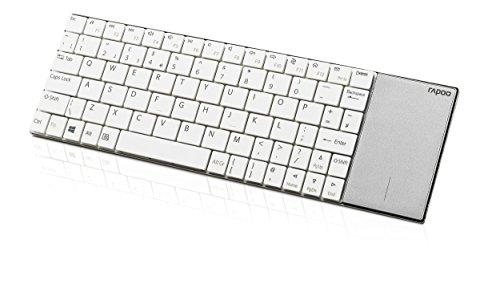 Rapoo E2710, kabellose Nano-USB Tastatur, mit integriertem Touchpad, weiß -