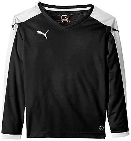 PUMA t-shirt à manches longues pour enfant pitch 13-14 ans Noir - noir/blanc