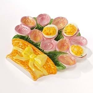Vitrine Magique - Le plat à oeufs bouquet de tulipes