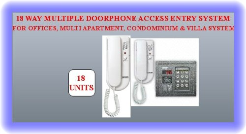 TC97- 18 WAY WIRED MULTIPLE INDOOR DOORPHONE INTERCOM WITH OUTDOOR ACCESS ENTRY CONTROL SYSTEM