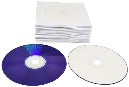 25 Bedruckbare DVD Rohlinge 8,5 GB in CD Hüllen aus Papier mit Folienfenster, Dual Layer 8X DVD+R DL 8,5 GB Wide Inkjet Printable Weiß -