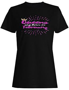 Gold Crown Queens nacieron en febrero camiseta de las mujeres aa62f