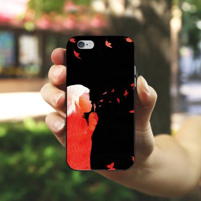 Apple iPhone X Silikon Hülle Case Schutzhülle Schmetterlinge Art Mädchen Silikon Case schwarz / weiß
