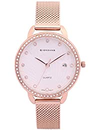 Giordano Analog Silver Dial Women's Watch-C2084-22