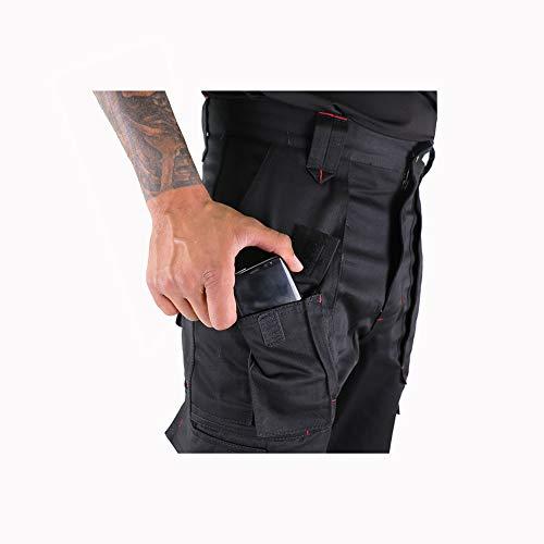 Lee Cooper Men's Cargo Trouser – schwarz -30W/29S - 5