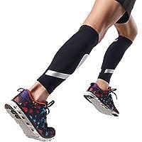 GSS- Rodillera Rodilla de Apoyo Leggings Pierna Pantorrilla Calcetines Deportes Correr Traje de compresión Adelgazante Transpirable Hombres y Mujeres Baloncesto Fitness (Tamaño : Metro)
