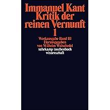 Werkausgabe in 12 Bänden: III/IV: Kritik der reinen Vernunft (suhrkamp taschenbuch wissenschaft)