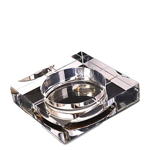 YTHX Aschenbecher Modernes Zuhause/Büro Art Deco Tragbarer Quadratischer Kristallaschenbecher 10 cmGolden -