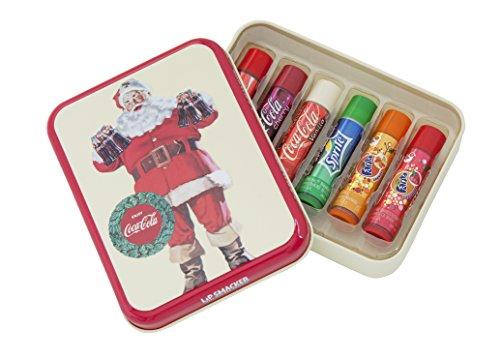 lip-smackerr-coca-colatm-geschenk-tinbox-santa-claus-mit-6-lippenpflegestiften-in-den-original-gesch
