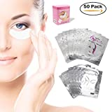 Augenpads Eye Pads - 50 Paar Profi Augen Gel Patch mit Dynamische Passform für Wimpernverlängerung Eye Extensions...
