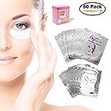 Augenpads Eye Pads - 50 Paar Profi Augen Gel Patch mit Dynamische Passform für Wimpernverlängerung Eye Extensions Augenwimper Beauty, Fusselfrei (50Paar)