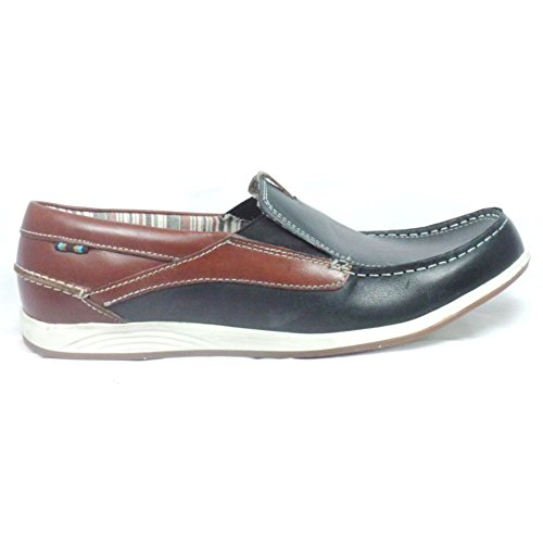 Lotus Navy Leather Mens Boat Shoe 12
