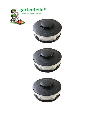 3 Stück Doppelfaden Rasentrimmer Spule Ersatzfadenspulen für Elektro Rasentrimmer Passend für ALDI Top Craft, King Craft, Gardenline GLR GLT, Einhell RTV, Performance Power