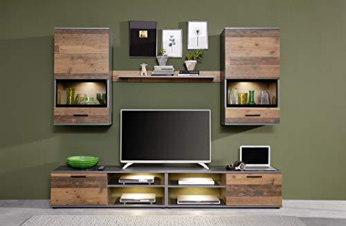 Wohnwand Set Holz, mit viel Stauraum kaufen  Bild 1*