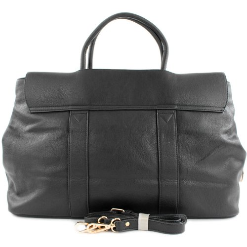 Borsa borsetta shopping bag borsa da donna in ecopelle finta pelle LK2277 Schwarz