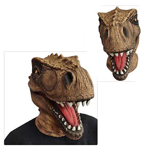 Z-one 1 Kopfmaske Horror Jurassic Dinosaurier Velociraptor Neuheit Halloween Weihnachten Ostern Kostüm Party Masken Lustige Latex Tier