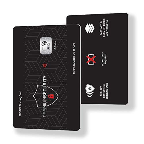 5ec02f4b9c Blocco Protezione RFID per Carte di Credito e Bancomat Contactless – Carta  di Blocco RFID & NFC - Proteggi Portafoglio, Pasaporto, Documento  d'identità ...
