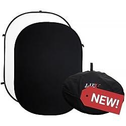 Toile de Fond Noir/Blanc/Fond | Écran numérique, Portable, Pop Up, 100% Coton, Mousseline, Pliable, Pliable, Double Face, Mat, Toile de Fond Pliable | La Vie de la Photo | 1mx1.5M / 3.3x4.9FT