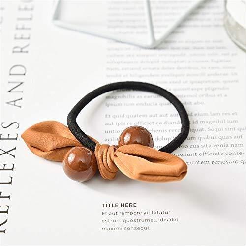XIAOL Home Bogenhaarseil-Mädchen Macarons Neuer Bogenhaarseil Neuer Wilder Knoten (Color : Brown)