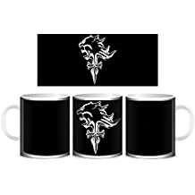 Creepyshirt - FF FINAL FANTASY VIII INSPIRED - SQUALL LOGO (BLACK) MUG