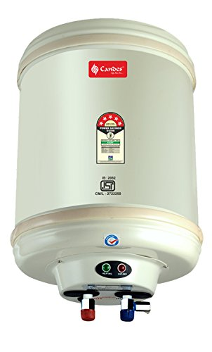 Candes Stainless Steel Storage Electric Water Heater, 10 L Capacity (Off-White)