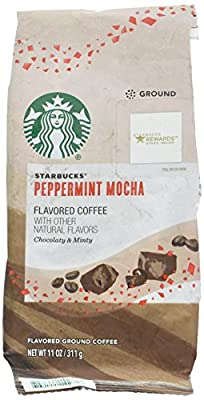 Starbucks Christmas Peppermint Mocha Naturally Flavored Ground Coffee 11oz (311g) by Starbucks