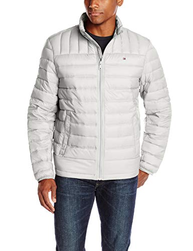 Tommy Hilfiger Herren Packable Down Jacket (Regular and Big & Tall Sizes) Daunen, Oberbekleidung, Mantel, Ice, Klein (Big Tall Herren-oberbekleidung)