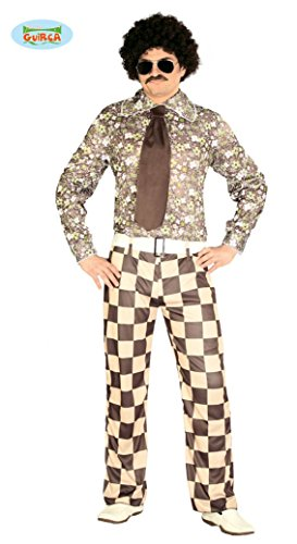 Hässliches 70er Jahre Freak Kostüm für Herren Disko Anzug Disco Dancer Groovy Herrenkostüm, (Halloween Kostüme Hässliche)